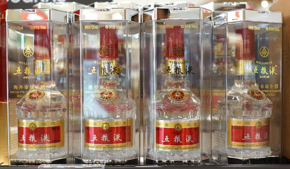 Shares of liquor maker Wuliangye Yibin have been on a tear. Photo: Shutterstock Images