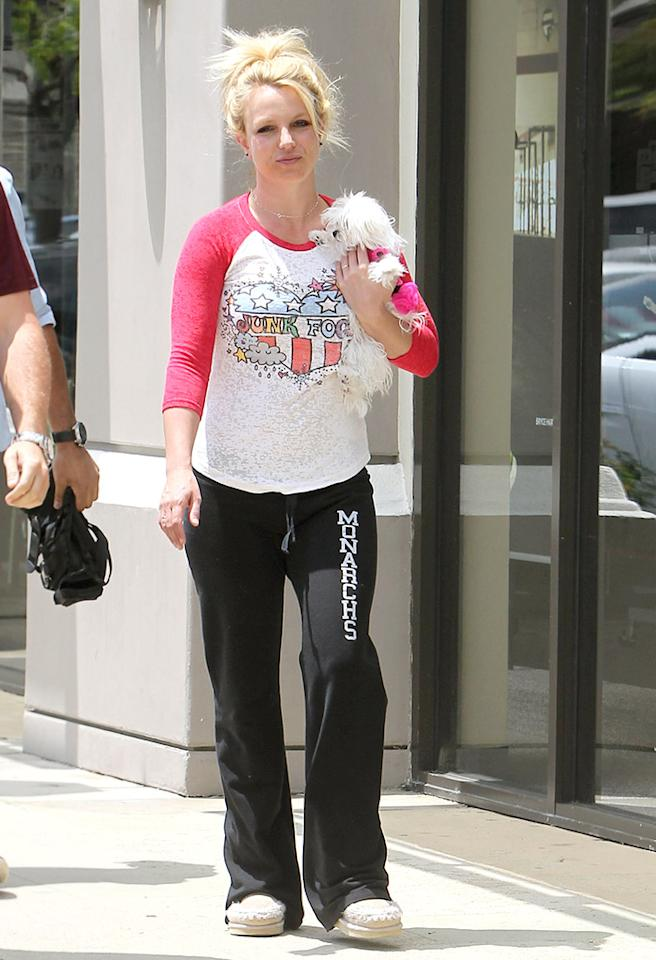 Britney Spears has earned the right to wear whatever she wants, whenever she wants. We would simply advise her to sport mismatched pajamas, especially when paired with bedhead and slippers, in the privacy of her own home. Otherwise, the paparazzi will flock to her and her fashion faux pas more than they already do.