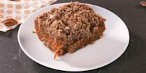 """<p>Ever wanted to have <a href=""""https://www.delish.com/uk/cooking/recipes/a32014969/gluten-free-carrot-cake-recipe/"""" rel=""""nofollow noopener"""" target=""""_blank"""" data-ylk=""""slk:carrot cake"""" class=""""link rapid-noclick-resp"""">carrot cake</a> for <a href=""""https://www.delish.com/uk/cooking/recipes/g30688413/breakfast-recipes/"""" rel=""""nofollow noopener"""" target=""""_blank"""" data-ylk=""""slk:breakfast"""" class=""""link rapid-noclick-resp"""">breakfast</a>? This coffee cake is the best of both worlds: moist, spiced carrot cake, AND sweet, irresistible crumb topping. Why choose one when you could have both? </p><p>Get the <a href=""""https://www.delish.com/uk/cooking/recipes/a32049083/carrot-cake-coffee-cake-recipe/"""" rel=""""nofollow noopener"""" target=""""_blank"""" data-ylk=""""slk:Carrot Cake Coffee Cake"""" class=""""link rapid-noclick-resp"""">Carrot Cake Coffee Cake</a> recipe.</p>"""