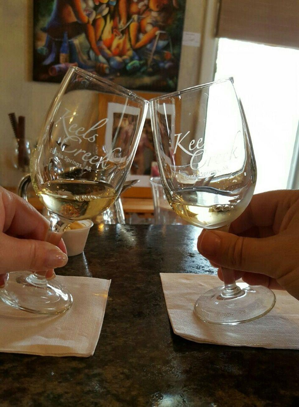 """<p><a href=""""https://foursquare.com/v/keels-creek-winery/4bd9a319d2cbc928112ad1ad"""" rel=""""nofollow noopener"""" target=""""_blank"""" data-ylk=""""slk:Keels Creek Winery"""" class=""""link rapid-noclick-resp"""">Keels Creek Winery</a> in Eureka Springs</p><p>""""Awesome <span class=""""entity tip_taste_match"""">staff</span>! Heather rocked us with her <span class=""""entity tip_taste_match"""">knowledge</span> and was so approachable and <span class=""""entity tip_taste_match"""">friendly</span>. Great for beginners or advanced questions.<span class=""""redactor-invisible-space"""">"""" - Foursquare user <a href=""""https://foursquare.com/user/14755656"""" rel=""""nofollow noopener"""" target=""""_blank"""" data-ylk=""""slk:Elisabeth Abernathy"""" class=""""link rapid-noclick-resp"""">Elisabeth Abernathy</a></span></p>"""