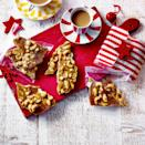 """<p>Sweet, salty and spicy – be warned: this brittle is incredibly moreish.</p><p><strong>Recipe: <a href=""""https://www.goodhousekeeping.com/uk/christmas/christmas-recipes/a34771324/spiced-cashew-brittle/"""" rel=""""nofollow noopener"""" target=""""_blank"""" data-ylk=""""slk:Spiced Cashew Brittle"""" class=""""link rapid-noclick-resp"""">Spiced Cashew Brittle</a></strong></p>"""