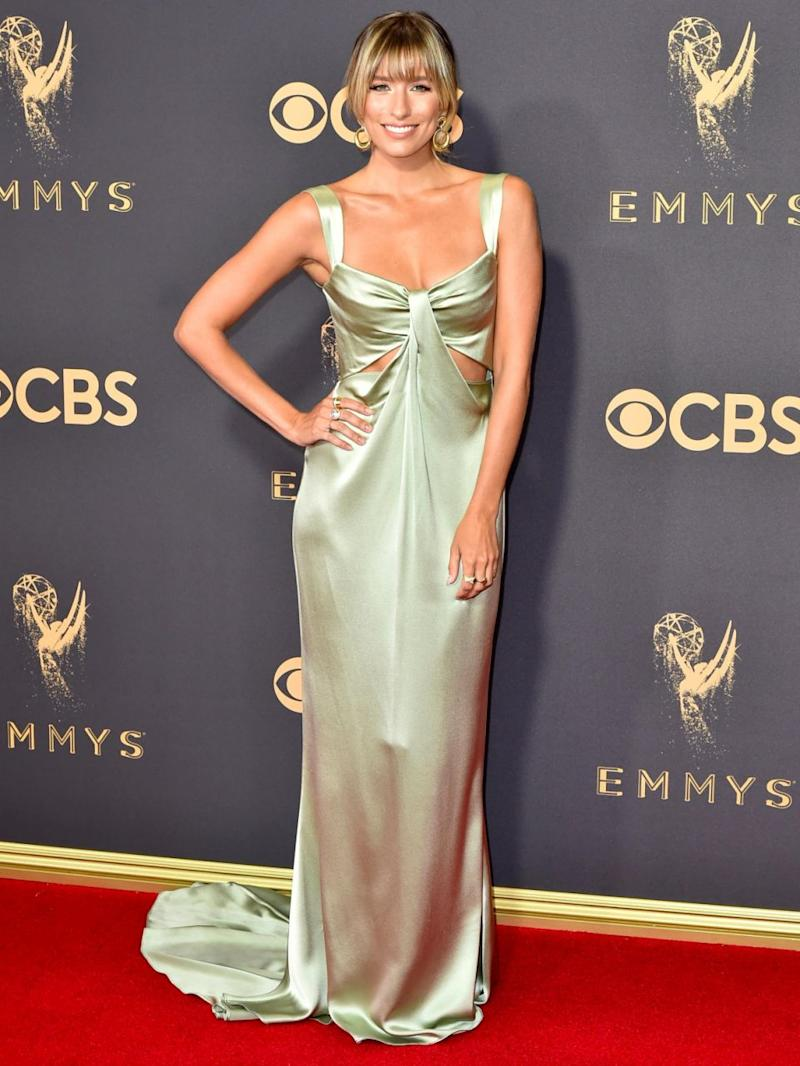 Renee Bargh dazzles at the Emmys. Source: Getty