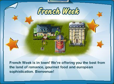 Millionaire City French Week