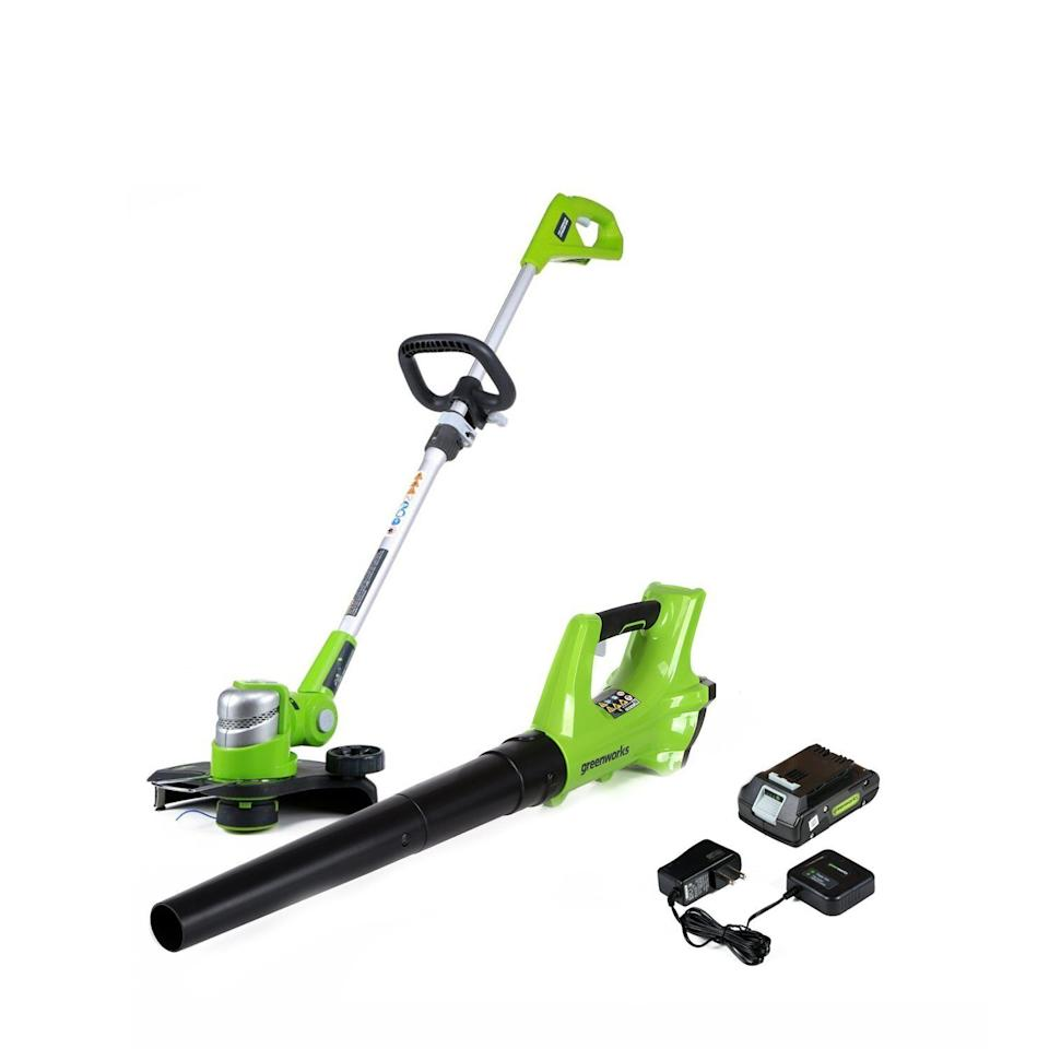 Cordless String Trimmer and Axial Blower Combo Kit