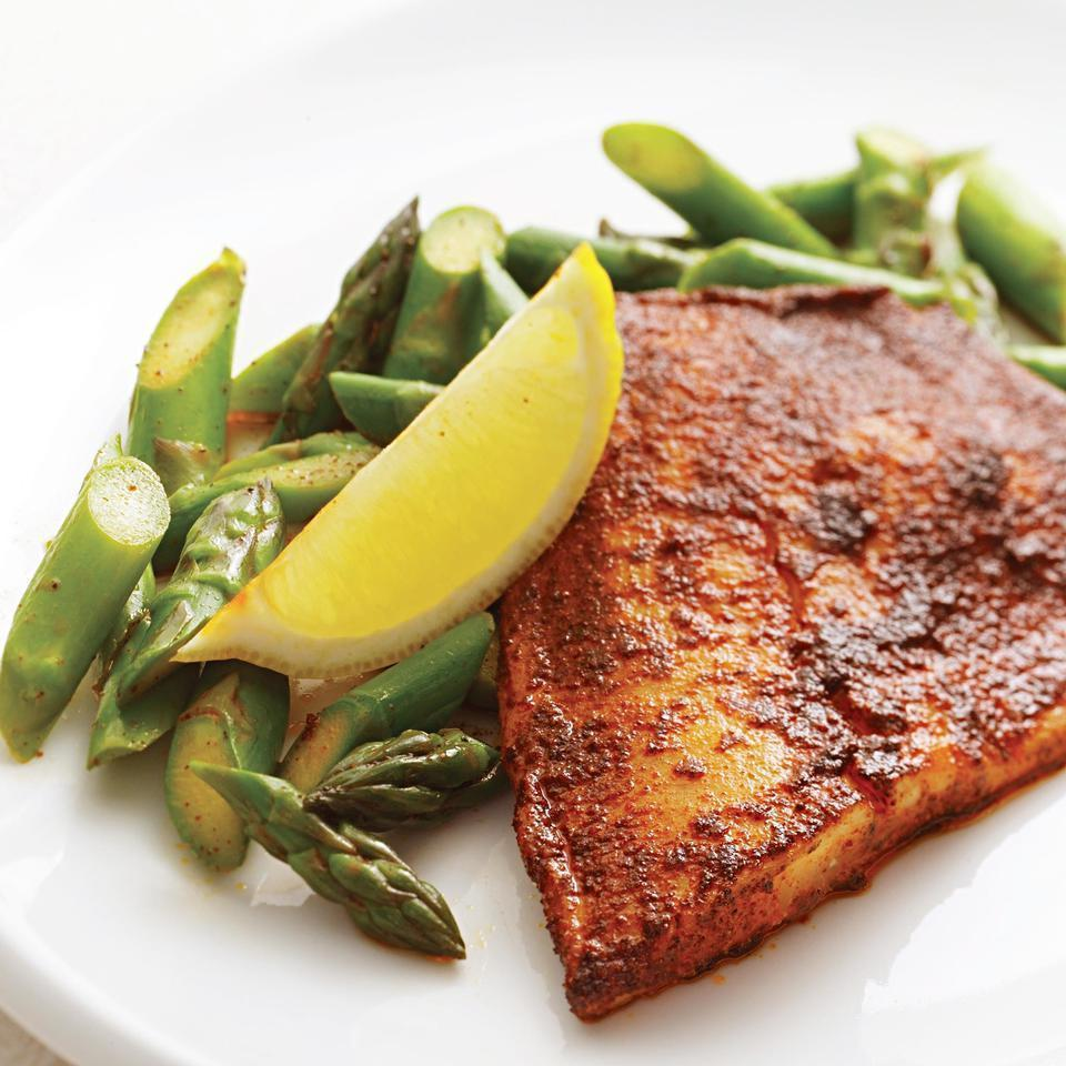 <p>Tilapia, a relatively plentiful fish, has the unfortunate reputation of being dull. All it needs is a spice rub, a familiar barbecuing technique that works just as well indoors. You could also use this rub on chicken breasts or toss it with lightly oiled shrimp before cooking.</p>