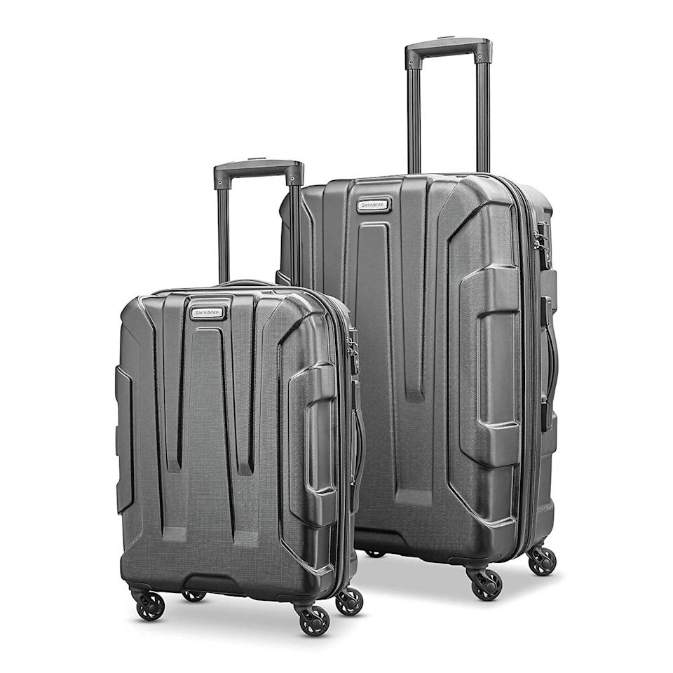"<p>You can't find a better deal on this <a href=""https://www.popsugar.com/buy/Samsonite%20Centric%20Expandable%20Hardside%20Luggage%20Set%20with%20Spinner%20Wheels-468397?p_name=Samsonite%20Centric%20Expandable%20Hardside%20Luggage%20Set%20with%20Spinner%20Wheels&retailer=amazon.com&price=130&evar1=savvy%3Aus&evar9=46381037&evar98=https%3A%2F%2Fwww.popsugar.com%2Fsmart-living%2Fphoto-gallery%2F46381037%2Fimage%2F46381040%2FSamsonite-Centric-Expandable-Hardside-Luggage-Set-Spinner-Wheels&list1=shopping%2Ctravel%2Camazon%2Cluggage%2Csale%2Csuitcases%2Camazon%20prime%2Csale%20shopping%2Camazon%20prime%20day&prop13=api&pdata=1"" rel=""nofollow"" data-shoppable-link=""1"" target=""_blank"" class=""ga-track"" data-ga-category=""Related"" data-ga-label=""https://www.amazon.com/Samsonite-Centric-Expandable-Hardside-Luggage/dp/B07MFZQDZW?pf_rd_r=EZSXWNJGX3DNKZPRVCHC&amp;pf_rd_p=e1fc00c5-3348-4daa-ba29-2df86e4eae40&amp;pf_rd_m=ATVPDKIKX0DER&amp;pf_rd_s=merchandised-search-6&amp;ref_=Oct_DLandingS_PC_06efb399_3&amp;smid=ATVPDKIKX0DER"" data-ga-action=""In-Line Links"">Samsonite Centric Expandable Hardside Luggage Set with Spinner Wheels</a> ($130, originally $430).</p>"