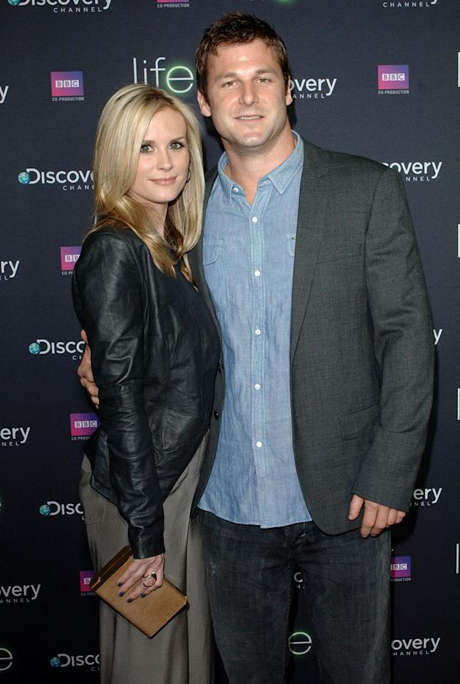 "<a href=""/bonnie-somerville/contributor/963743"">Bonnie Somerville</a> and <a href=""/dave-salmoni/contributor/2307463"">Dave Salmoni</a> arrive at Discovery Channel's Los Angeles Screening of <a href=""/life/show/44198"">""Life""</a> at the Getty Center on February 25, 2010."