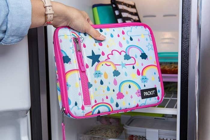 "No need to weigh down your kid's lunches and snacks with unwieldy ice packs. This lunchbox will keep everything inside extra chill if you put it in the freezer the night before.<br /><br /><strong>Promising review:</strong> ""Pure genius invention to put the gel into the lunchbox! The entire lunchbox stays cold. It collapses so it doesn't take up much room in the freezer. <strong>The gel doesn't get too stiff so it easily opens to fit all of your items. So far it seems very durable.</strong> It is a bit heavier than anticipated due to the gel. I will be purchasing more for my other children, this is a great product."" — <a href=""https://amzn.to/3tlMIjO"" target=""_blank"" rel=""nofollow noopener noreferrer"" data-skimlinks-tracking=""5669346"" data-vars-affiliate=""Amazon"" data-vars-href=""https://www.amazon.com/gp/customer-reviews/RPYTFJN0WS00C?tag=bfjohn-20&ascsubtag=5669346%2C3%2C22%2Cmobile_web%2C0%2C0%2C0"" data-vars-keywords=""cleaning,fast fashion"" data-vars-link-id=""0"" data-vars-price="""" data-vars-retailers=""Amazon"">Katie Robinson</a><strong><br /><br />Get it from Amazon for <a href=""https://amzn.to/3agTK1N"" target=""_blank"" rel=""nofollow noopener noreferrer"" data-skimlinks-tracking=""5669346"" data-vars-affiliate=""Amazon"" data-vars-asin=""B07M9CX2H8"" data-vars-href=""https://www.amazon.com/dp/B07M9CX2H8?tag=bfjohn-20&ascsubtag=5669346%2C3%2C22%2Cmobile_web%2C0%2C0%2C7256021"" data-vars-keywords=""cleaning,fast fashion"" data-vars-link-id=""7256021"" data-vars-price="""" data-vars-product-id=""16359185"" data-vars-product-img=""https://m.media-amazon.com/images/I/513INESGYGL.jpg"" data-vars-product-title=""PackIt Freezable Classic Lunch Box, Spaceman"" data-vars-retailers=""Amazon"">$19.99+</a> (available in 21 colors and patterns).</strong>"