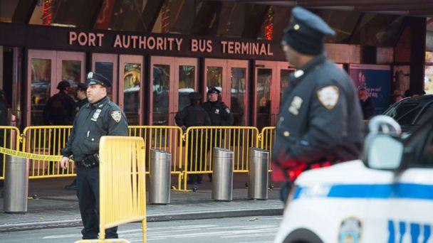 PHOTO: Police respond to a reported explosion at the Port Authority Bus Terminal, Dec. 11, 2017, in New York City. (Bryan R. Smith/AFP/Getty Images)