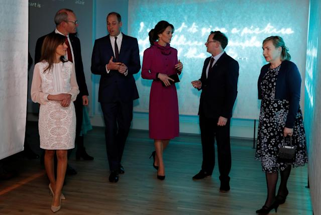 The Duke and Duchess of Cambridge at the reception hosted by Simon Coveney. (Press Association)