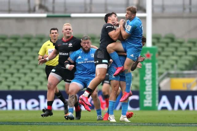 Saracens remain on course to defend their Heineken Champions Cup title after a win against the odds at Leinster