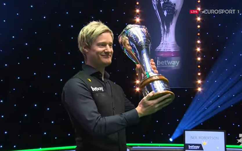 Robertson toppled world No.1 Judd Trump in a late night thriller to win a third UK Championship in December