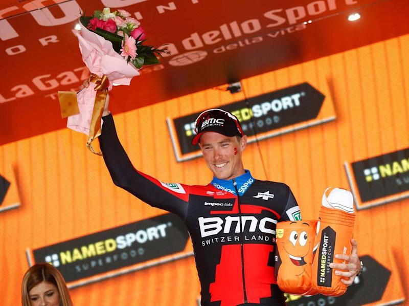Rohan Dennis celebrates his stage win (Getty Images)