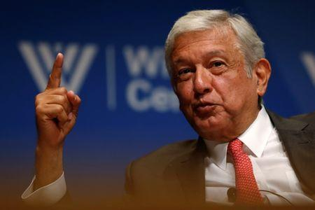Mexico's Obrador takes part in an event at the Wilson Center in Washington