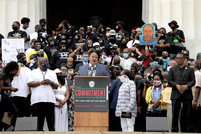 IMAGE: Martin Luther King III at the Commitment March in Washington (Julius Constantine Motal / NBC News)