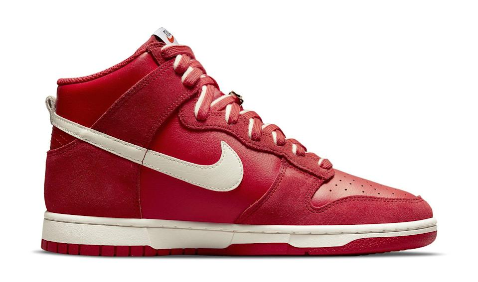 """The medial side of the Nike Dunk High """"First Use."""" - Credit: Courtesy of Nike"""