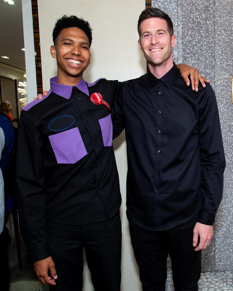 Tyler Mitchell and Matthew Israel attend Dior, Artsy, and Bergdorf Goodman's cocktail to celebrate the works of nine artists from The Artsy Vanguard on display at Bergdorf Goodman.
