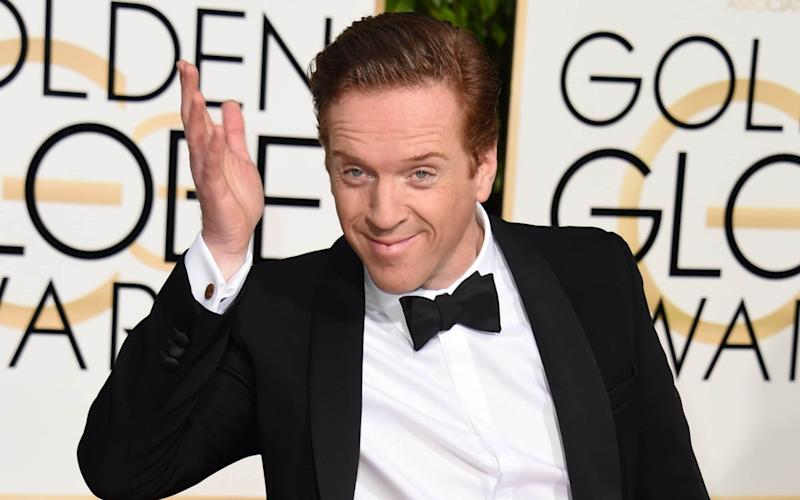 Eton-educated actor Damian Lewis at the Golden Globe Awards in January - AFP