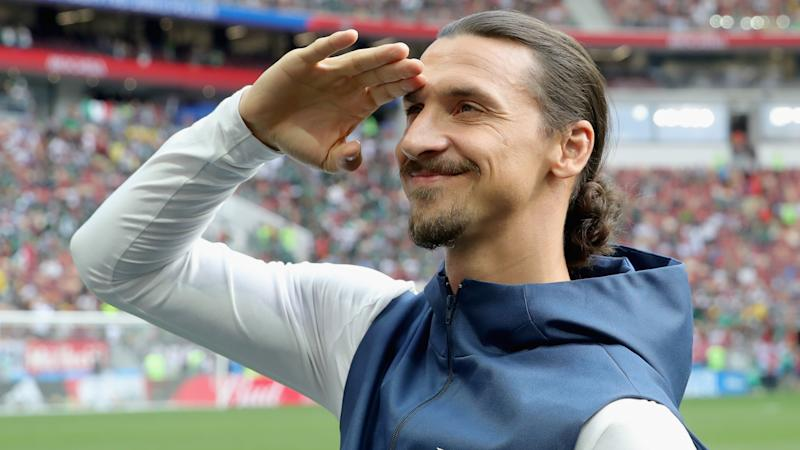 Ibrahimovic marks first day back at Milan with goal in friendly thrashing
