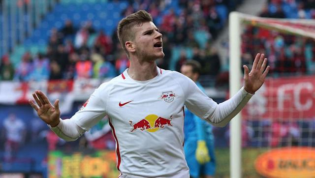 <p><strong>Age: </strong>21</p> <p><strong>Bundesliga Goals: </strong>14</p> <br><p>The goals of Timo Werner have given RB Leipzig an excellent chance of going from Germany's second tier to the Champions League in the space of just one year.</p> <br><p>This is already the striker's fourth season of senior football after initially making his professional breakthrough at Stuttgart back in 2013.</p>