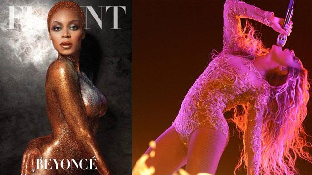 Beyonce Goes Nearly Nude For Flaunt Magazine