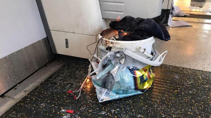 The arrest comes after a bucket bomb on-board a London Underground train injured 30 people. Source: AP
