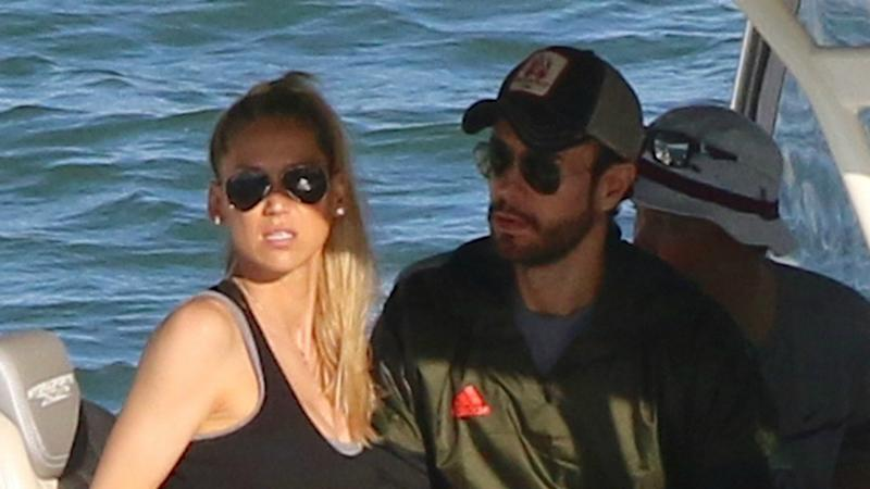 Enrique Iglesias and Anna Kournikova Have Fun in the Sun 5 Weeks After Welcoming Twins