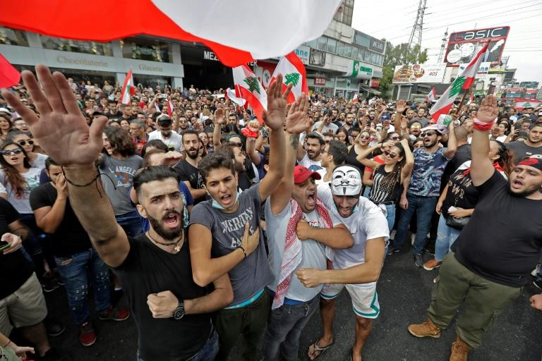 the protesters are demandng a sweeping overhaul of Lebanon's political system, citing grievances ranging from austerity measures to alleged corruption and poor infrastructure