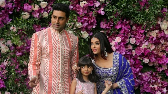 Abhishek (L) said his wife and daughter would self-isolate at home