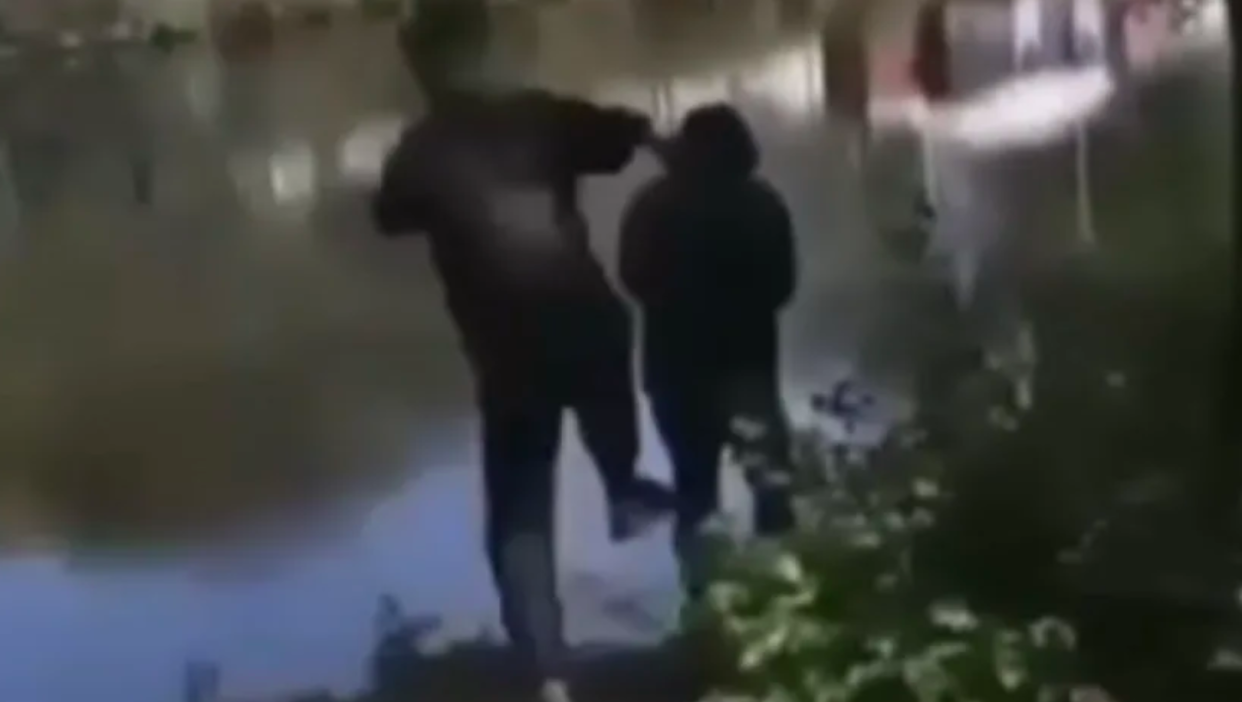 Bridgeman was caught on camera delivering a flying kick to the elderly man and knocking him into the River Mersey.