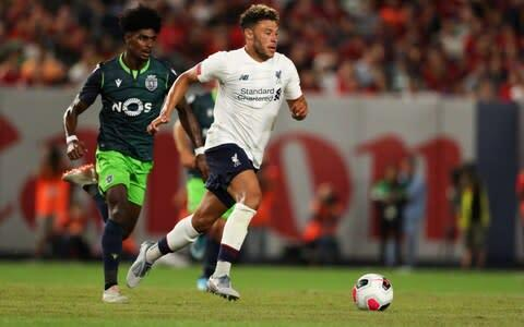 <span>Oxlade-Chamberlain is continuing his comeback from a long-term knee injury</span> <span>Credit: GETTY IMAGES </span>