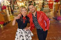 <p>Derek and Julianne Hough join forces to host the 5th anniversary flashback special of <em>The Wonderful World of Disney: Magical Holiday Celebration</em> on Thursday. </p>