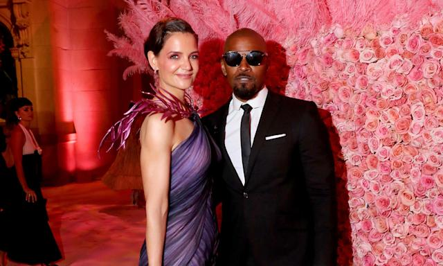"""The very private, and perhaps surprising, pairing of Jamie Foxx and Katie Holmes split this year after dating for some time. It came after they attended their first red carpet together at the 2019 Met Gala with reports suggesting it <a href=""""https://uk.news.yahoo.com/jamie-foxx-and-katie-holmes-reportedly-split-as-hes-photographed-with-21-yearold-singer-213149875.html"""" data-ylk=""""slk:ended when Foxx was seen holding hands;outcm:mb_qualified_link;_E:mb_qualified_link;ct:story;"""" class=""""link rapid-noclick-resp yahoo-link"""">ended when Foxx was seen holding hands</a> with up and coming singer Sela. Foxx denied their relationship was anything other than platonic. (Kevin Tachman/MG19/Getty Images for The Met Museum/Vogue)"""