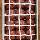 """<p>Hot cross buns are a classic type of bread, and this recipe puts a unique twist on it. </p><p><strong><em>Get the recipe at <a href=""""https://www.delish.com/cooking/recipe-ideas/a26975471/chocolate-hot-cross-buns-recipe/"""" rel=""""nofollow noopener"""" target=""""_blank"""" data-ylk=""""slk:Delish"""" class=""""link rapid-noclick-resp"""">Delish</a>. </em></strong></p>"""