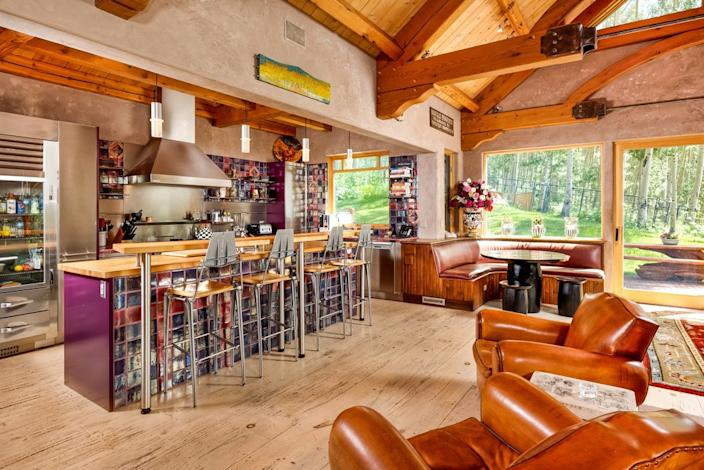The kitchen in Melanie Griffith's Aspen, Colorado, home.