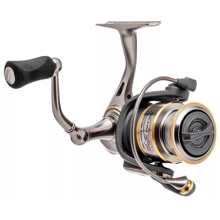 """<p><strong>Bass Pro Shops</strong></p><p>basspro.com</p><p><strong>$69.99</strong></p><p><a href=""""https://go.redirectingat.com?id=74968X1596630&url=https%3A%2F%2Fwww.basspro.com%2Fshop%2Fen%2Fbass-pro-shops-pro-qualifier-2-spinning-reel&sref=https%3A%2F%2Fwww.popularmechanics.com%2Fadventure%2Foutdoor-gear%2Fg37171383%2Fbest-spinning-reels%2F"""" rel=""""nofollow noopener"""" target=""""_blank"""" data-ylk=""""slk:Shop Now"""" class=""""link rapid-noclick-resp"""">Shop Now</a></p><p><strong><strong>• Gear ratio:</strong> </strong>5.1:1<br><strong>• </strong><strong>Weight:</strong> 9 oz.<br><strong>• Size: </strong>8 lb./145 yards</p><p>Bass Pro Shops sells enough fishing reels to have its own house brand line of spinning reels, and the quality is on-par with other name brand reels. They're also likely made in the same factories with the same or similar parts. Because of the sub $100 price tag, this may feel like a run-of-the-mill reel, but it offers all the features and build quality of more expensive reels without the name brand.</p><p>The 5.1:1 gear ratio is a good medium retrieval speed, and the 5.5-lb. maximum drag is enough for your average angler's pursuits. Still, the reel is light and precise enough to handle a range of applications from panfishing to bass.</p>"""