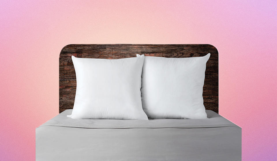 We heartily applaud the pillow presentation here, but we strongly recommend getting a bigger bed to go with them. (Photo: Walmart)
