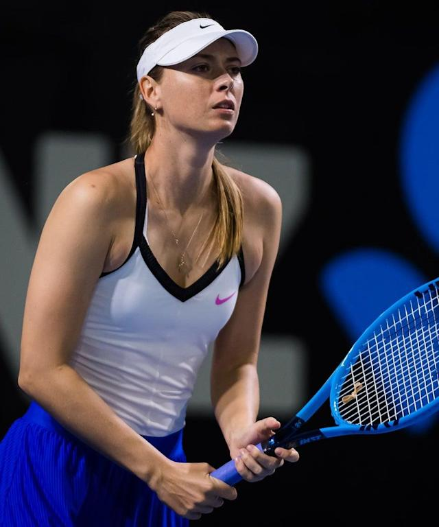 Mandatory Credit: Photo by Rob Prange/Shutterstock (10519552ay) Maria Sharapova of Russia in action during her first-round match Brisbane International Tennis Tournament, Australia – 07 Jan 2020
