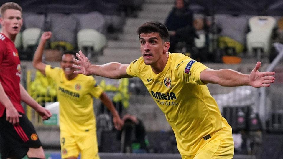 Europa League final: Villarreal 1-0 up against Manchester United