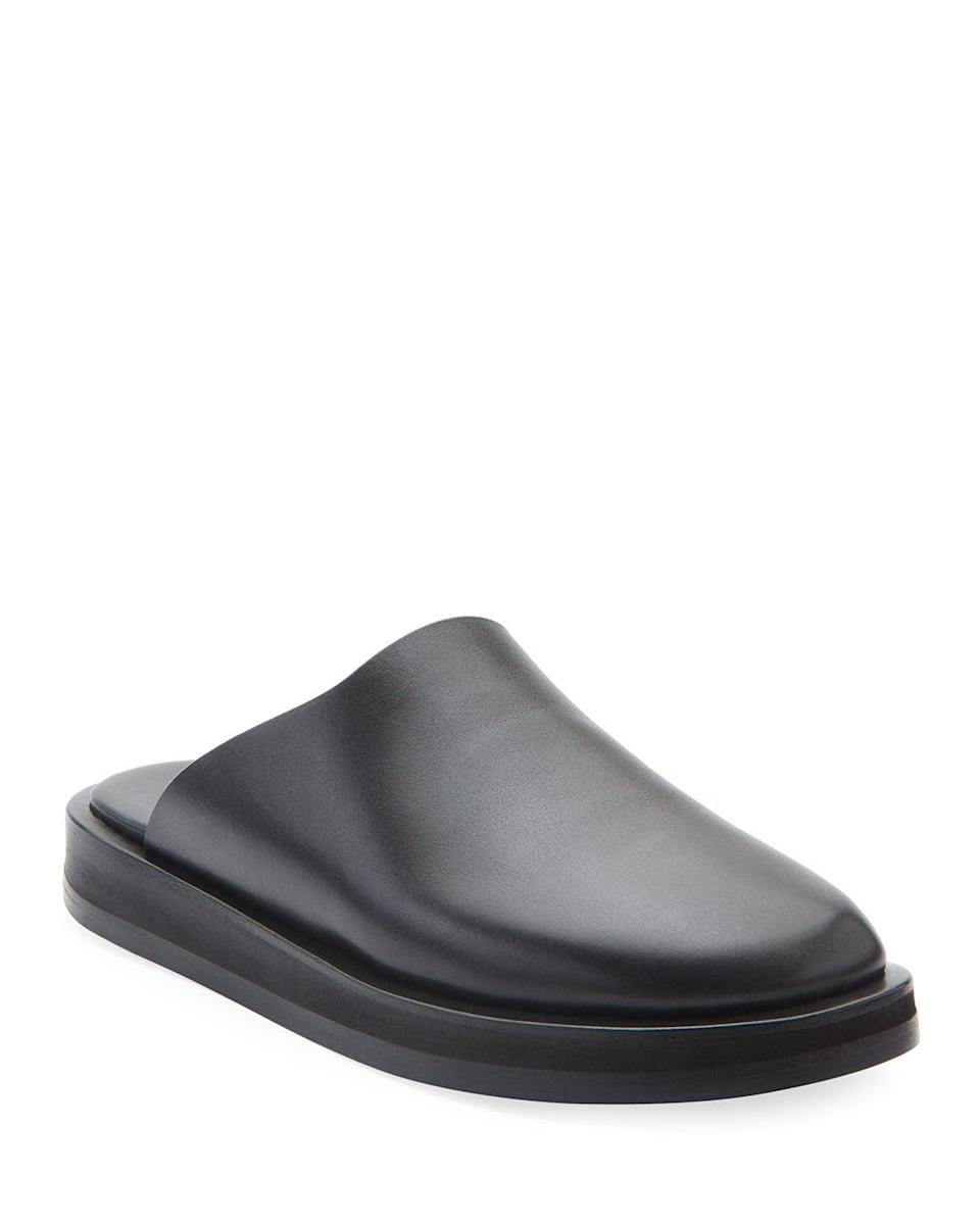 """<br> <br> <strong>The Row</strong> Sabot Smooth Calfskin Mules, $, available at <a href=""""https://go.skimresources.com/?id=30283X879131&url=https%3A%2F%2Fwww.neimanmarcus.com%2Fp%2Fthe-row-sabot-smooth-calfskin-mules-prod227630181"""" rel=""""nofollow noopener"""" target=""""_blank"""" data-ylk=""""slk:Neiman Marcus"""" class=""""link rapid-noclick-resp"""">Neiman Marcus</a>"""