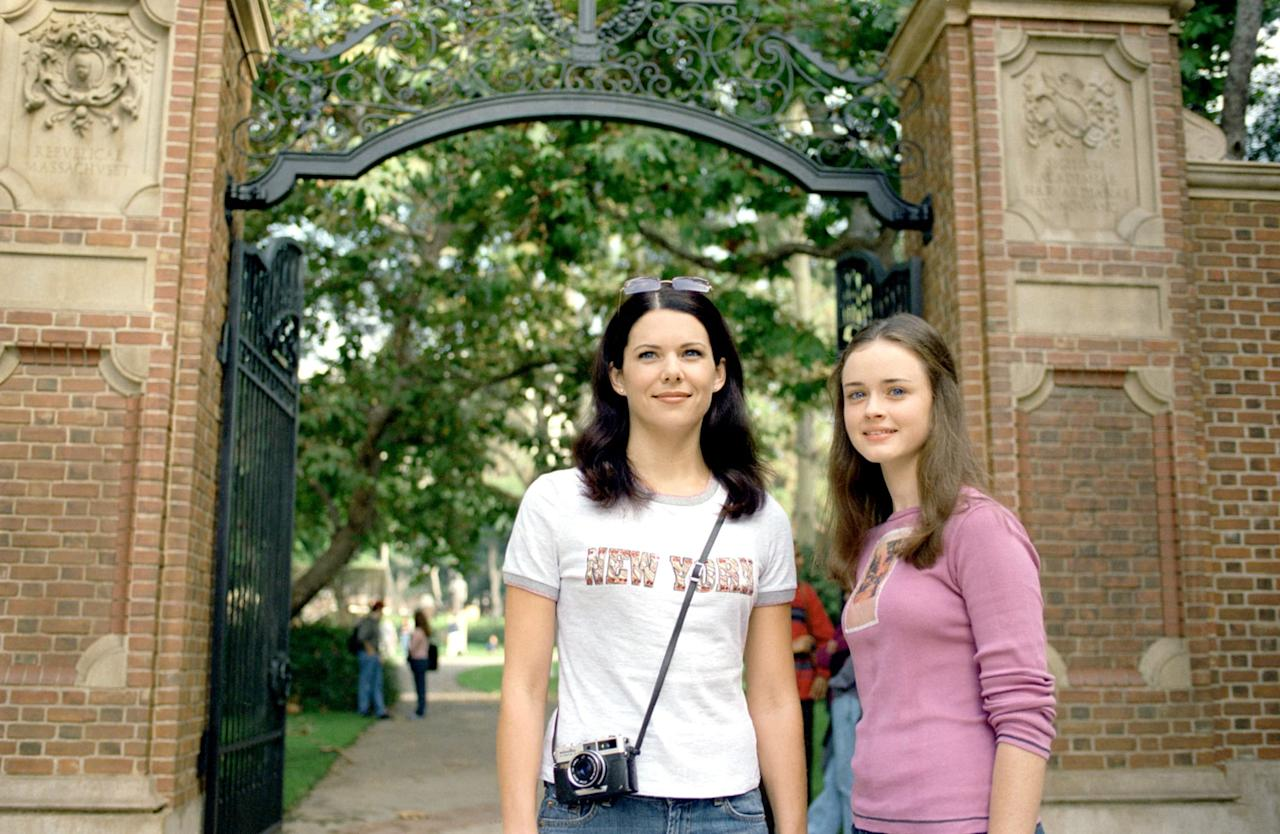 <p><strong>Lorelai:</strong> Don't study so much that you get brilliant, go mad, grow a big bald egghead, and try to take over the world, OK? 'Cause I want to go shoe shopping this weekend. </p> <p><strong>Rory:</strong> Promise. I will not go mad until we get you some boots. </p>