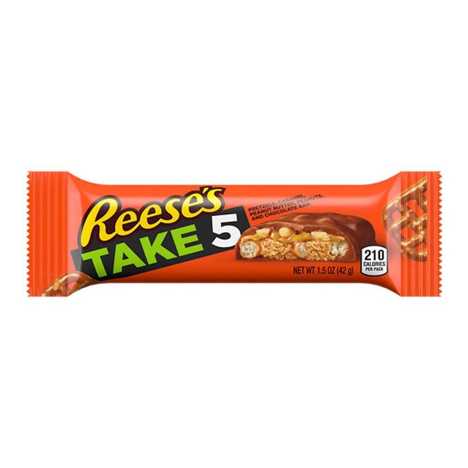 <p>The chocolate bars keep getting more complicated (and delicious). This one is salty, sweet, and oh-so-chocolatey, to level up the Reese's peanut butter cups you know and love.</p>