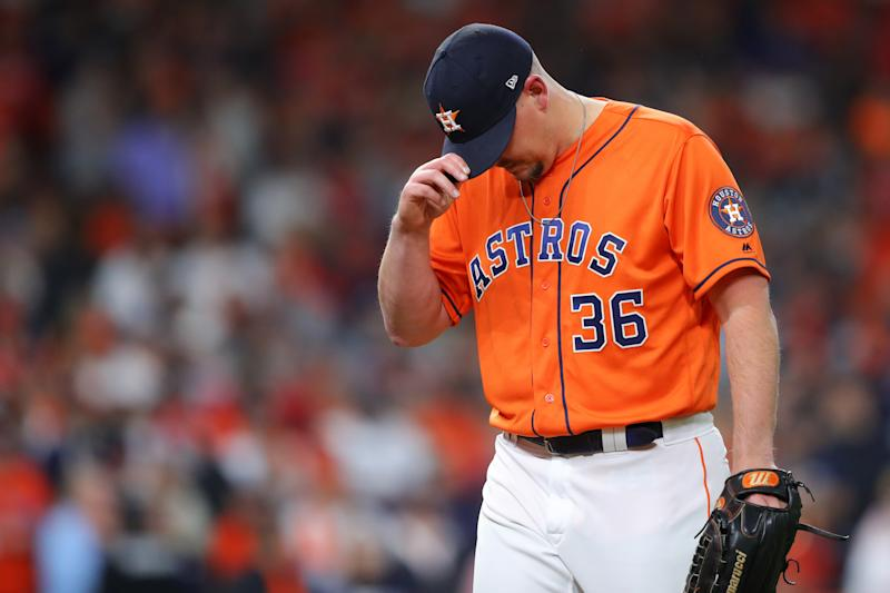 The Astros' sign-stealing saga has been the major offseason MLB storyline. (Photo by Alex Trautwig/MLB Photos via Getty Images)