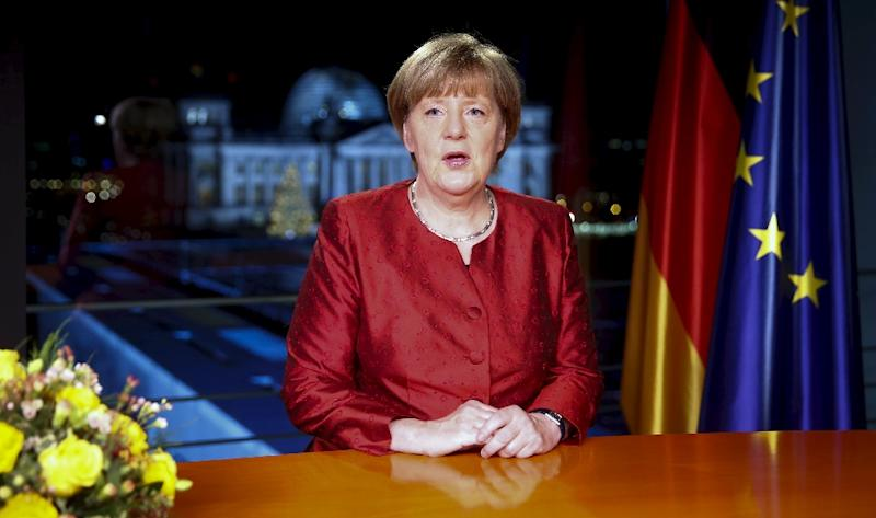"""Angela Merkel says the record influx of refugees to Germany is """"an opportunity for tomorrow"""" (AFP Photo/Hannibal Hanschke)"""