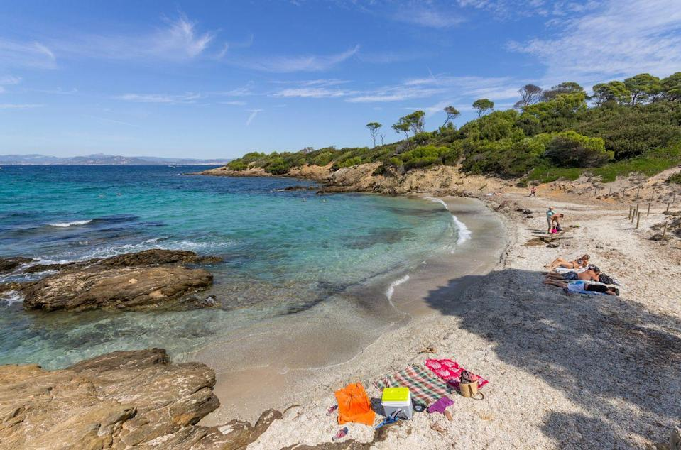 <p>No trip to the French Riviera would be complete without a visit to the car-free islet of Île de Porquerolles. This idyllic beach is lined with fragrant pine and eucalyptus trees, and the crystal clear water is perfect for snorkelling.</p>
