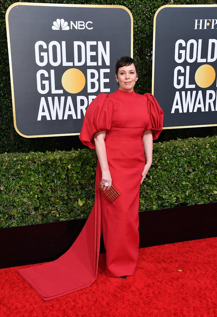 Olivia Colman attends the 77th Annual Golden Globe Awards [Photo: Getty]
