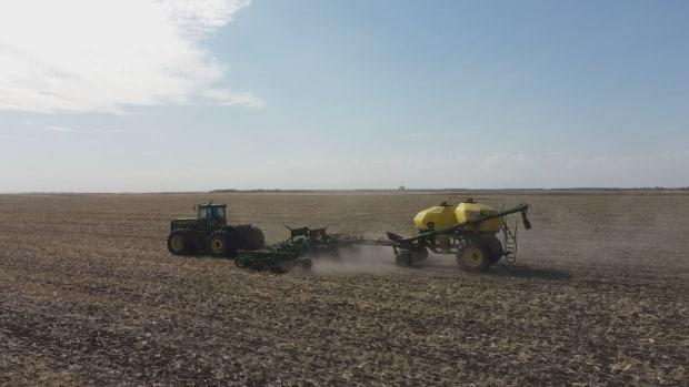 Despite drought conditions, Chuck Fossay is still trying to get a crop into the ground. (Jaison Empson/CBC - image credit)