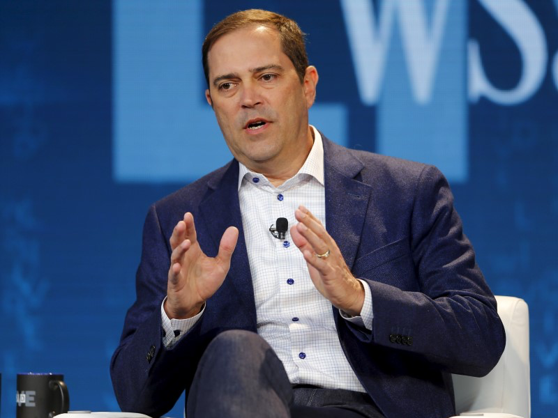 Chuck Robbins, chief executive officer of Cisco Systems in Laguna Beach, California October 20, 2015.</p> <p>  REUTERS/Mike Blake