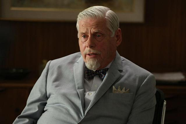 "Bertram Cooper (Robert Morse) in the ""Mad Men"" episode, ""A Tale of Two Cities."""