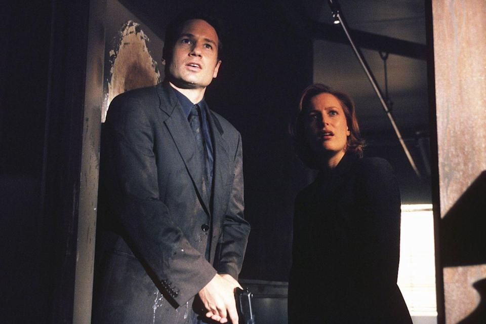 """<p>Gillian Anderson's character, Dana Scully, was <a href=""""https://www.smithsonianmag.com/arts-culture/qampa-chris-carter-of-the-x-files-1194526/"""" rel=""""nofollow noopener"""" target=""""_blank"""" data-ylk=""""slk:inspired by Clarice Starling"""" class=""""link rapid-noclick-resp"""">inspired by Clarice Starling</a> (Jodie Foster) in <em>Silence of the Lambs</em>. Creator Chris Carter even made Dana's <a href=""""https://www.redbookmag.com/beauty/hair/g3652/hair-loss-women-facts/"""" rel=""""nofollow noopener"""" target=""""_blank"""" data-ylk=""""slk:hair red"""" class=""""link rapid-noclick-resp"""">hair red</a> to honor the character. Jodie ended up on the show, providing her voice to play a talking tattoo during the fourth season.</p>"""